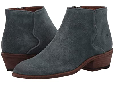 Frye Carson Piping Bootie (Sea Pine Hairy Suede) Women
