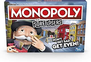 Monopoly for Sore Losers Board Game for Ages 8 and Up, The Game Where it Pays to Lose