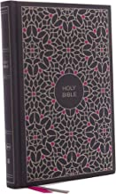 NKJV, Thinline Bible, Large Print, Cloth over Board, Gray/Pink, Red Letter Edition, Comfort Print: Holy Bible, New King James Version