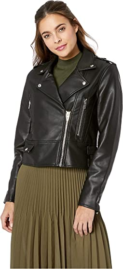 Vegan Leather Moto Jacket in It Takes Two