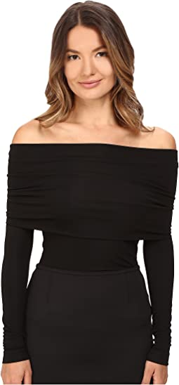 YIGAL AZROUËL - Matte Jersey Off Shoulder Long Sleeve Top