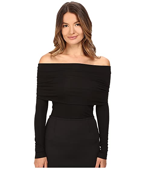 YIGAL AZROUËL Matte Jersey Off Shoulder Long Sleeve Top