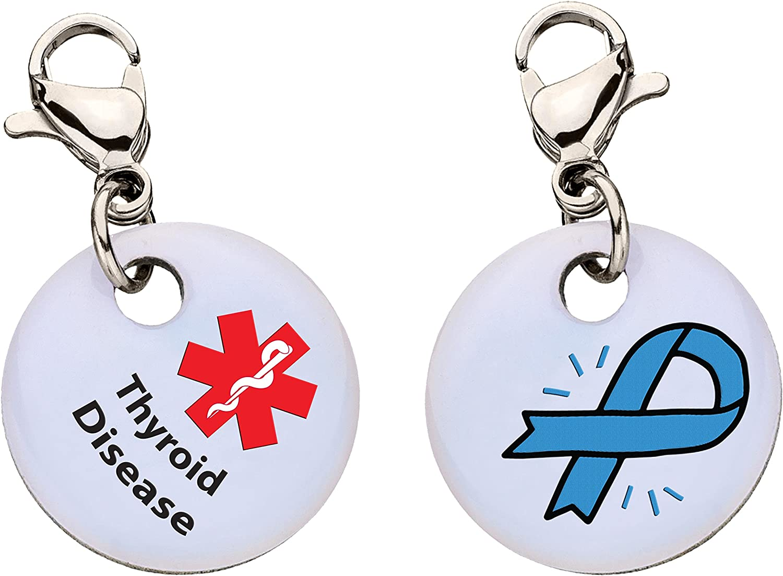 Thyroid Disease Snap-On Bracelet Charm-Parent (Stainless Steel),107