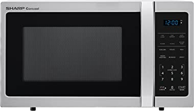 Sharp Microwaves ZSMC0912BS Sharp 900W Countertop Microwave Oven, 0.9 Cubic Foot, Stainless Steel