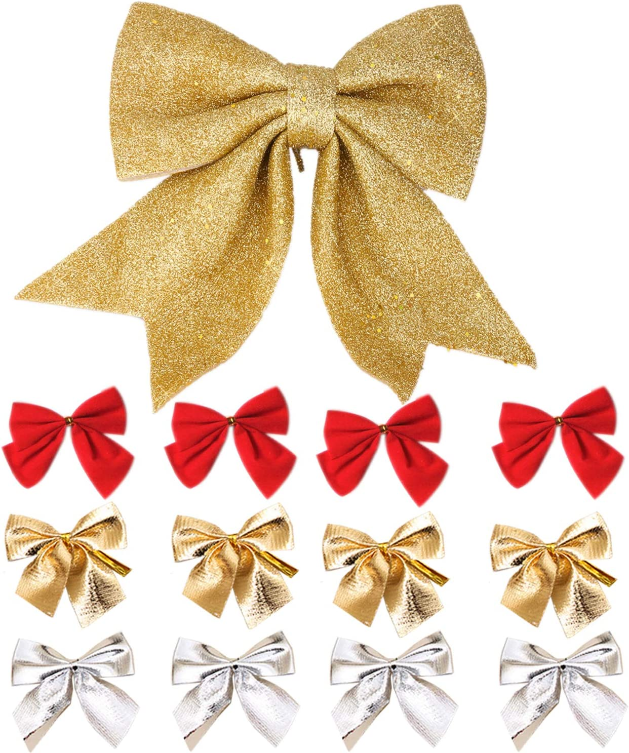 12 Inch Gold Christmas Tree Large and All items in Regular discount the store Bow Topper Small