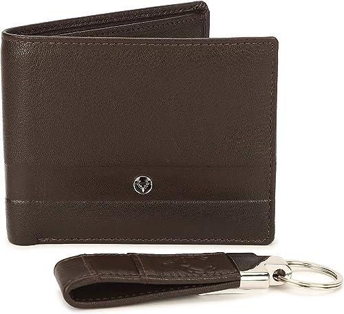 Brown Leather Men s Wallet Gift Set