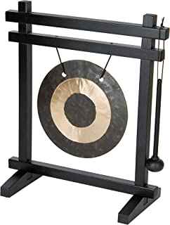 Woodstock Chimes WDG The Original Guaranteed Musically Tuned Chime Desk Gong, Black/Bronze