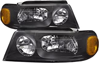 PERDE Headlights Set Performance Lens Pair Compatible with 1998-2002 Lincoln Navigator (Black)