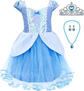 Princess Cinderella Rapunzel Little Mermaid Dress Costume for Baby Toddler Girl