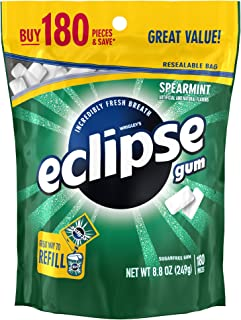 Eclipse Spearmint Sugarfree Gum, 180 Count (Pack of 1)