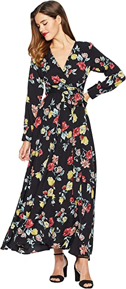 Floral Long Sleeve Farrah Maxi Dress
