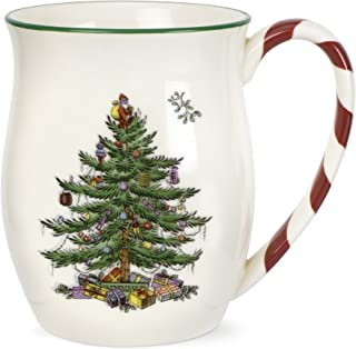 Spode Christmas Tree Candy Cane Mugs, Set of 4