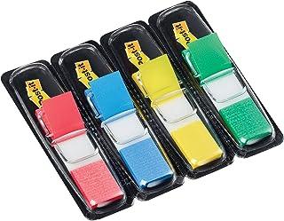 Post-it plakstrip Index Mini 683-4 - gekleurde plaknotities in - 4 plakstripblokken van 35 vel in 4 kleuren in een praktis...