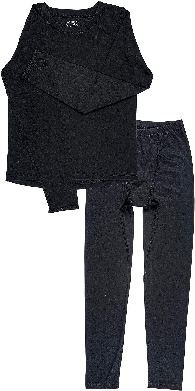 Trimfit Boys Space Dye Long-Sleeve w/Thumbholes Thermal Underwear 2 Piece Pajama Set for Kids: Clothing