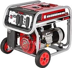 A-iPower SUA4500 4,500-Watt Gasoline Powered Portable Generator Wheel Kit Included
