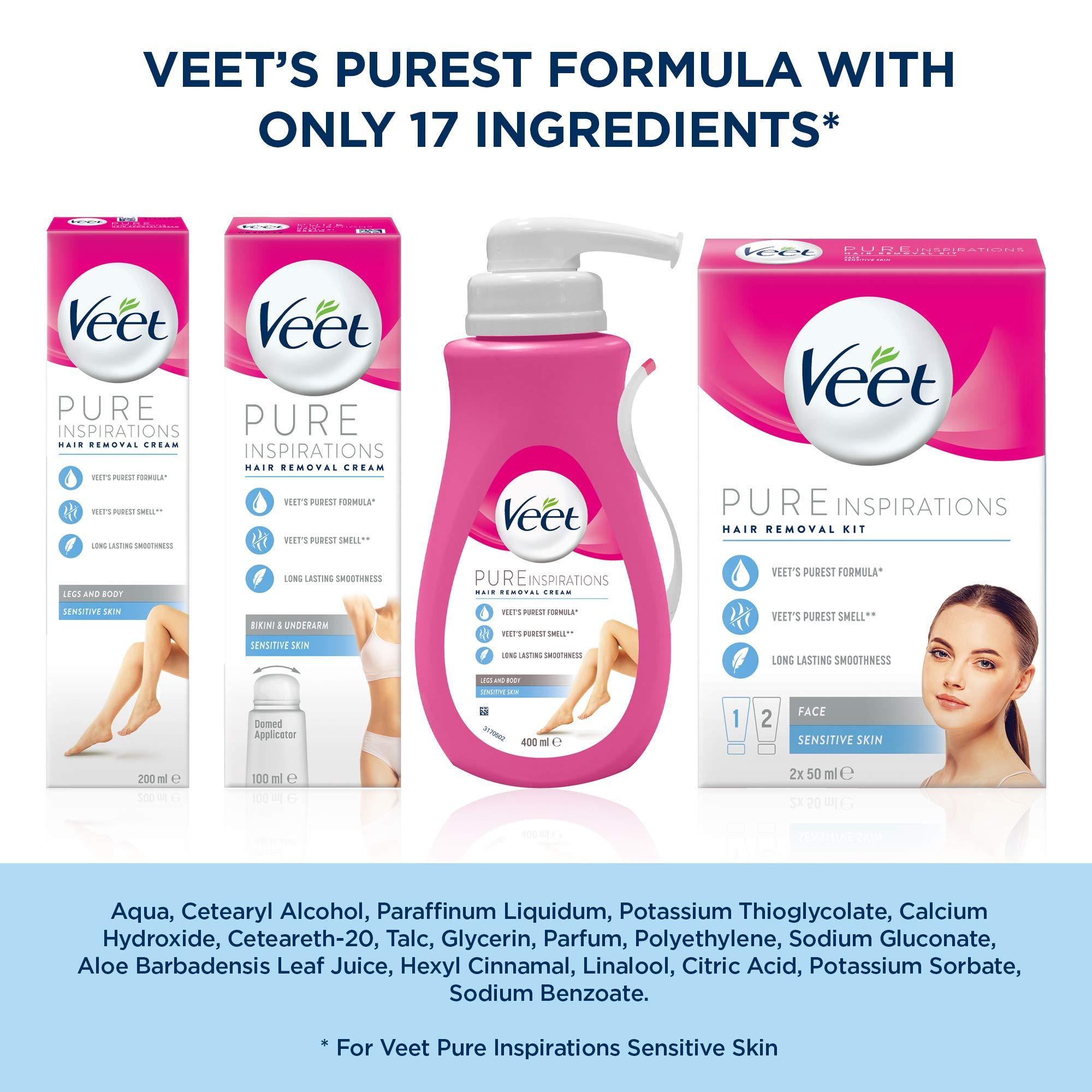 Veet Bikini and Underarm Hair Removal Cream, 100ml
