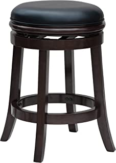 Boraam Backless Counter Height Stool, 24-Inch, Cappuccino