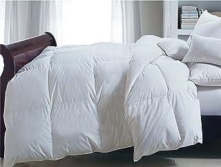 Blue Ridge Home Fashions Cotton Twill Comforter, King, White