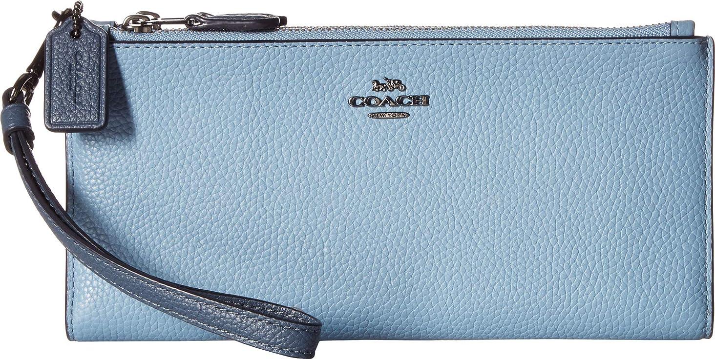 COACH Women's Double Zip Wallet in Color Block Leather