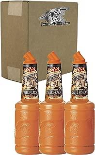 Finest Call Premium White Peach Fruit Puree Drink Mix, 1 Liter Bottle (33.8 Fl Oz), Pack of 3