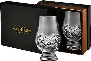 Glencairn Whiskyglas aus geschliffenem Bleiglas Set aus 2 Gläsern