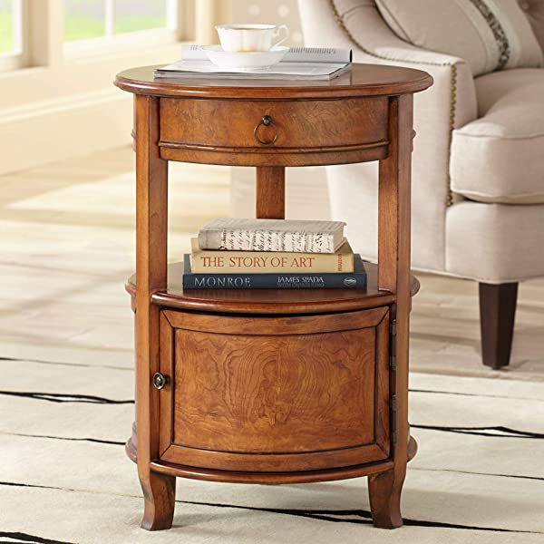 Kendall 18 Wide Cherry Finish Small Round Accent Table Kensington Hill