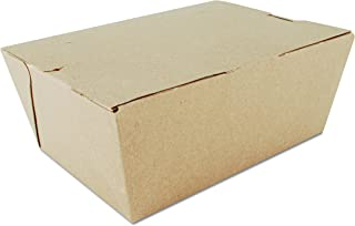 "Southern Champion 0734 7-3/4"" Length x 5-1/2"" Width, 3-1/2"" Depth, Kraft Color, ChampPak Carryout Box (Case of 160)"