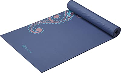 Gaiam Yoga Mat Premium Print Extra Thick Non Slip Exercise & Fitness Mat for All Types of Yoga, Pilates & Floor Workouts, Soft Paisley, 6mm