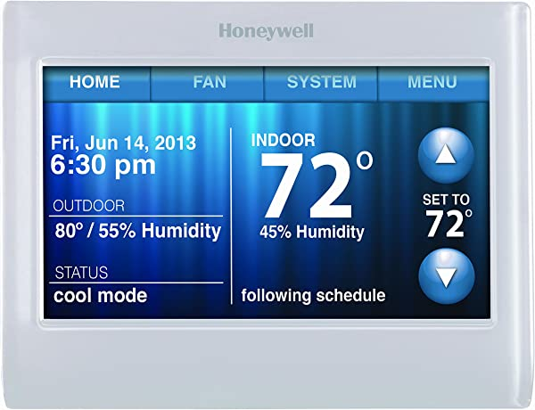 Honeywell TH9320WF5003 Wi Fi Touch Screen Programmable Thermostat