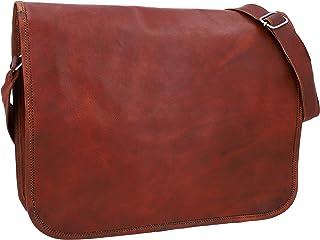Gusti Umhängetasche Damen Leder Taylor L 15 für Zoll Geräte Handtasche Tasche Ledertasche Braun