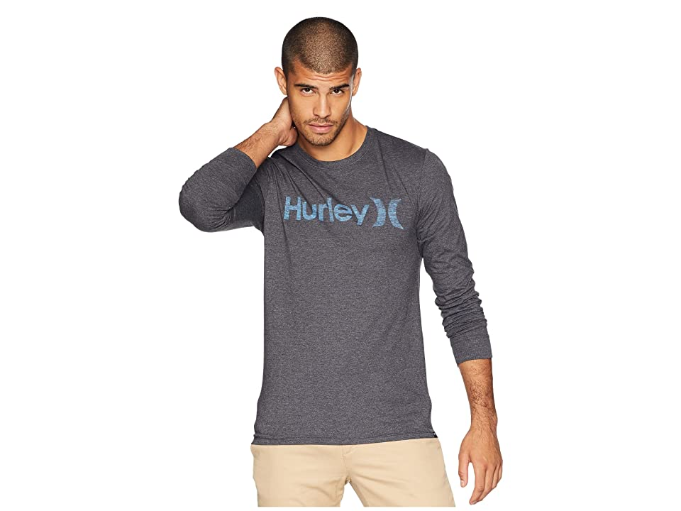 2c81ef3804 Hurley One Only Push Through Long Sleeve Tee (Black Heather) Men's T Shirt