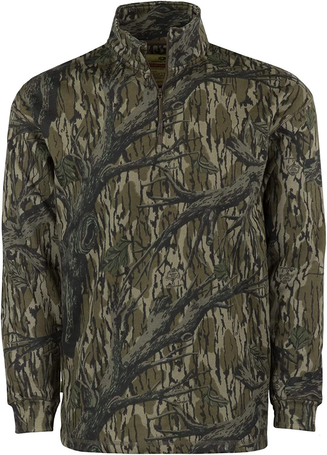 Amazon.com: Mossy Oak Men's Vintage Quarter Zip, Camo Hunting Jacket:  Clothing