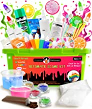 Original Stationery Ultimate Slime Kit: DIY Slime Making Kit with Slime Add Ins Stuff for Unicorn, Glitter, Cloud, Butter, Floam, More - Deluxe Halloween Slime Kits for Girls and Boys (Green, 53pcs)