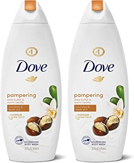 Dove Pampering Body Wash Nourishes & Feeds Skin Shea Butter with Warm Vanilla Effectively Washes Away Bacteria While Nouri...