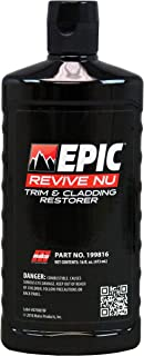 Malco Epic Revive Nu Plastic Trim & Cladding Restorer, Restores Faded and Dried Out Plastic, Vinyl and Rubber Back to Black or Gray Finish, 16 oz. (199816)