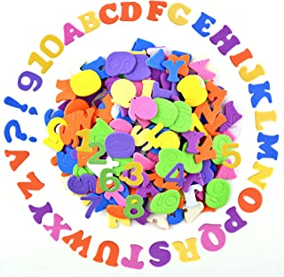 Coopay Self-Adhesive Foam Letter Alphabet Number Stickers Assorted Colors for Kid's Arts Craft Supplies