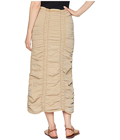 Authentic Pictures For Sale XCVI Stretch Poplin Double Shirred Panel Skirt Nugget Buy Cheap Eastbay Limited Edition Sale Online 4LLuwo1