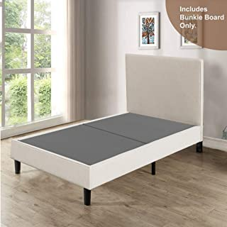 Spinal Solution 1.5-Inch Solid Wood Split Bunkie Board Mattress/Bed Support, Fits Standard, Twin, Grey
