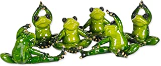 yoga frog figurines set of four