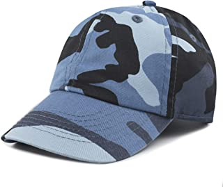 Kids Washed Low Profile Cotton and Denim Plain Baseball Cap Hat