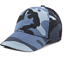 d3fb3a1222 THE HAT DEPOT Kids Washed Low Profile Cotton and Denim Plain Baseball Cap  Hat