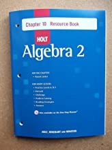 Holt Algebra 2: Resource Book with Answers: Chapter 10