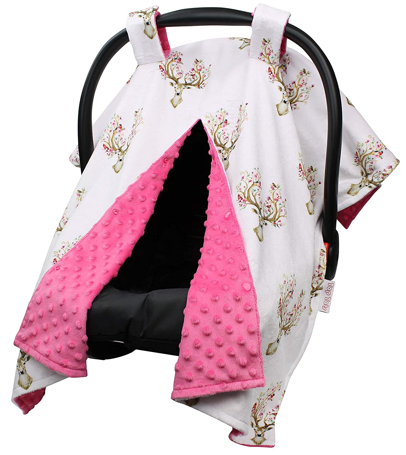 Top Tots Deer Collection Deluxe Minky In stock Polyester Dot Max 52% OFF Car Ca Seat