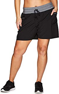 RBX Active Women's Plus Size Relaxed Fit Breathable Ventilated Athletic Short