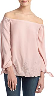 Jessica Simpson Off The Shoulder Tie Cuff Top
