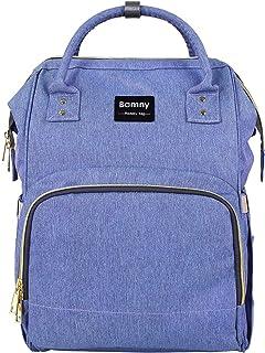 30911ee0dc BAMNY Organisateur de sac à langer pour bébé Isolé Sac à dos de voyage  imperméable à