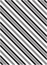 Darice 1218-36 Embossing Folder, 4.25 by 5.75-Inch, Diagonal Stripe Design