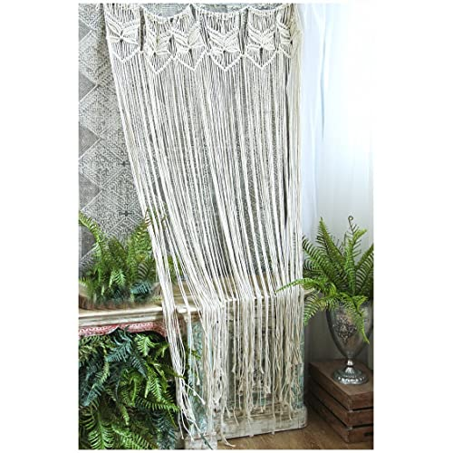 HiPlus Butterfly Macrame Wall Hanging Tapestry Curtains For Door WindowCloset