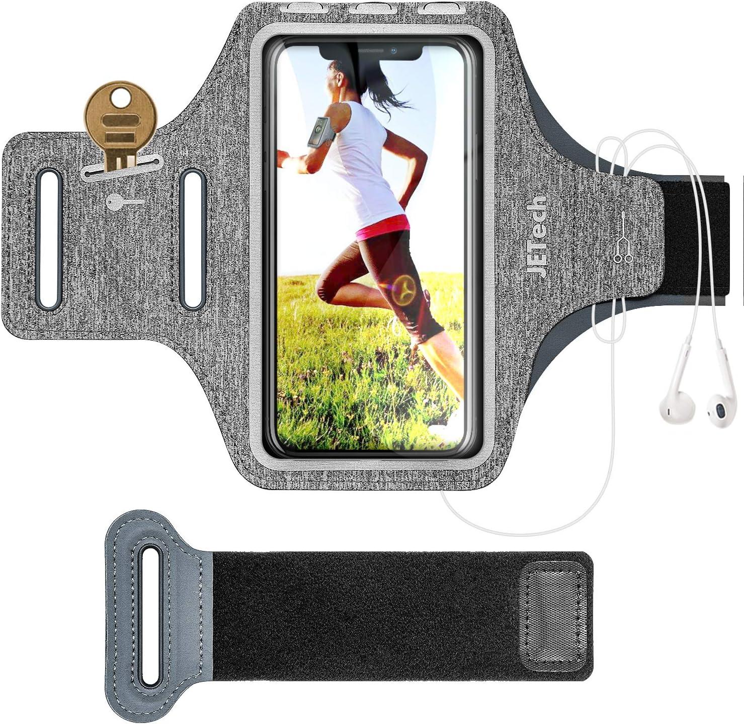 JETech Brazalete Deportivo Compatible iPhone SE Negro 2020 para Correr Senderismo Galaxy S10//S9//S9+,Correa Ajustable //11//11 Pro//XR//XS//X//8 Plus//7 Plus//8//7 Equipado con Soporte para Llave y Tarjeta
