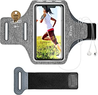 JETech Cell Phone Armband Case for Apple iPhone 11/XR/XS/X/8 Plus/7 Plus/8/7/6s/6, Samsung Galaxy S10/S9/S9+, Adjustable Band, w/Key Holder and Card Slot, for Running, Walking, Hiking